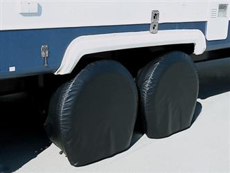 ADCO BLACK COVERS ; Slip On; Single Tire ; Size 5 ; Tire Cover; Slip On; Fits 18 Inch To 22 Inch Diameter Tires; Vinyl; Set Of 2; 01-1183 3975