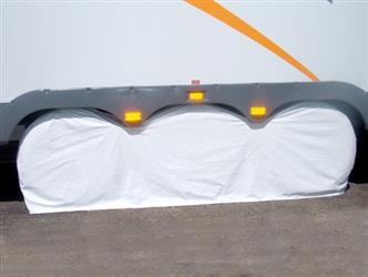 ADCO POLAR WHITE TRIPLE AXLE COVER; Slip On; Fits 27 Inch To 29 Inch Diameter Tires; Vinyl; Single; 01-1111 3983