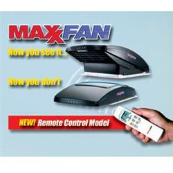 MaxxAir Fan Roof Vent;Remote Control Powered Opening; Smoke; 22-0389 00-07500K