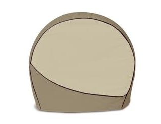 ADCO DESIGNER SERIES COVERS ; Slip On; Fits 27 Inch To 29 Inch Diameter Tires; Two-Tone Brown; Vinyl; Set Of 4 ; 01-3673 3963