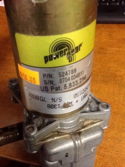 power-gear slide motor 524789 label