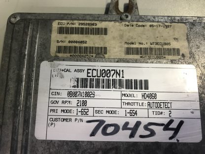 Allison transmission TCU 29528963 label