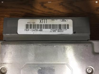 Ford engine ECM F8UF label